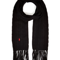 Polo Ralph Lauren - Merino Wool-Cashmere Cable Knit Scarf
