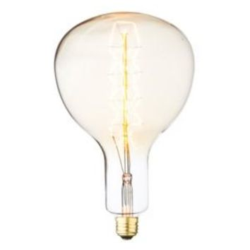 Ribbon Filament - Edison Antique Vintage Oversize Light Bulb - 1 Pack - Medium size - 60 wattage - E26 - 3,000 hrs of life 160 Lumens