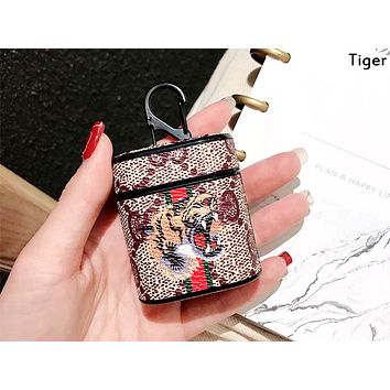 GUCCI tide brand airpods1/2 universal wireless Bluetooth headset bag storage box holster Tiger