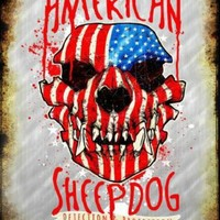 American Sheepdog  Metal Parking Sign Police Soldiers Firefighters