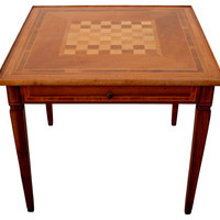 Italian Inlaid Game Table