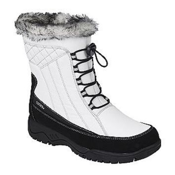 Totes- -Women's Winter Boot Eve Water Repellant Thermolite -White/Black-Shoes-Womens-Boots