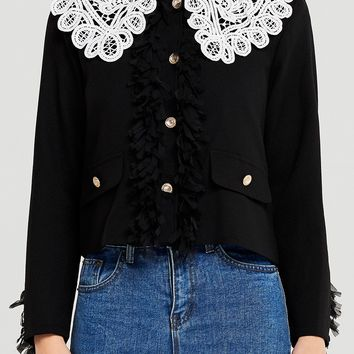 Maria Lace Collar Jacket Discover the latest fashion trends online at storets.com