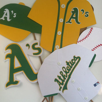 Photo booth props:  THE OAKLAND A s
