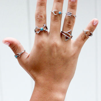 The Turkish Rings in Silver