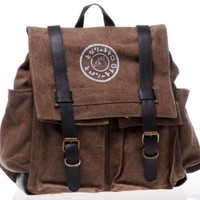 Studio Ghibli My Neighbor Totoro Canvas Backpack School Bag Pack New Design--Brown