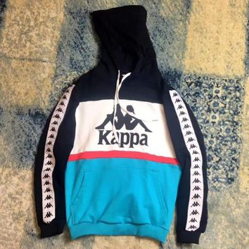 Kappa Fashion Women Print Hooded Top Long Sleeve Pullover Sweater Sweatshirt Hoodie I