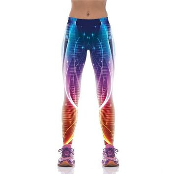 3D Galaxy Space Geometric Knitted Leggings