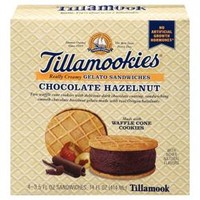 Tillamookies Chocolate Hazelnut Gelato - 4 ct 3.5 oz