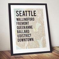 Seattle Neighborhood Print