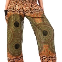 Boho Harem Yoga Pants - Rose Green
