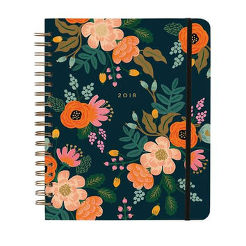 2018 17-Month Large Spiral Bound Planner - Lively Floral
