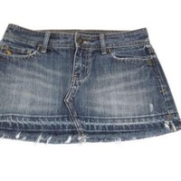 ABERCROMBIE & Fitch womens Jean skirt Size 0 Hot Distressed Short Jean Skirt Size
