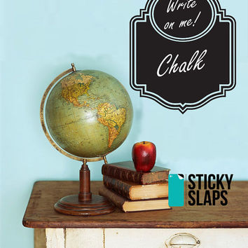 Chalkboard Vinyl Decal Set Of 2 To Organize Your Kitchen, Home, Office Or Wedding