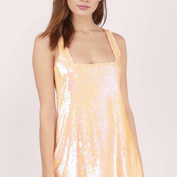 Show Stopper Sequin Shift Dress