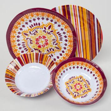 fall color plate & bowl set Case of 48
