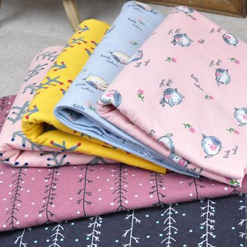50*145cm cartoon plain cotton flannel sanding fabric For DIY baby clothing bedding flannel cloth