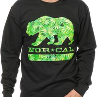 Nor Cal Weed Bear Crew Neck Sweatshirt