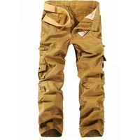 West Street Haku Dark Yellow Men's Cargo Pants with Matching Belt