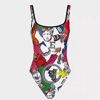 Versace Women Fashion Print One Piece Swimwear Bikini Swimsuit