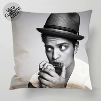 Bruno Mars pillow case, cover ( 1 or 2 Side Print With Size 16, 18, 20, 26, 30, 36 inch )