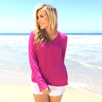Claire Blouse In Magenta