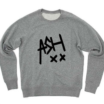 ashton irwin sweater Gray Sweatshirt Crewneck Men or Women for Unisex Size with variant colour