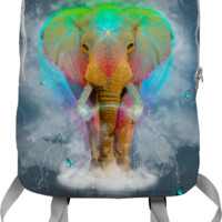 Nothing Is So Strong As Gentleness: Neon Elephant v.2 Backpack (Limite by soaringanchordesigns