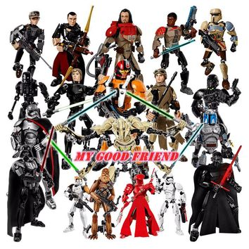 Star Wars Force Episode 1 2 3 4 5 20 styles KSZ  Rogue One Toys Jango Phasma Jyn Erso K-2SO Darth Vader General Grievous Figure toy building blocks TOYS AT_72_6