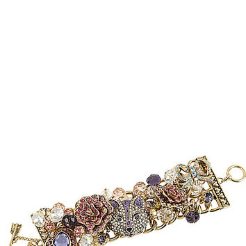 BetseyJohnson.com - IMPERIAL FOX ROSE TOGGLE BRACELET PURPLE