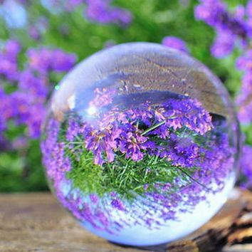 60mm Clear Glass Ball Rare Natural Quartz Crystal Sphere Clear Magic Ball Chakra Healing Gemstone Wonderful Gift Drop Shipping