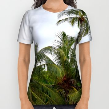 Palm Trees in the Sky All Over Print Shirt by UMe Images