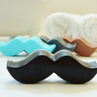 MUSTACHE SOAP - Choose Scent & Color, diy party favors, baby shower, birthday, boys, kids, men, little man