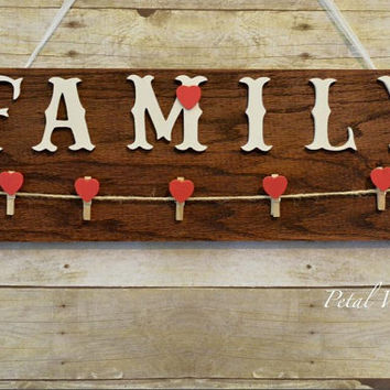 Family Photo Wall Decor - Family Wood Memorial Sign - Wood Home Decor Photo Wall Hanging - Mothers Day Gift - Wooden Family Photo Display
