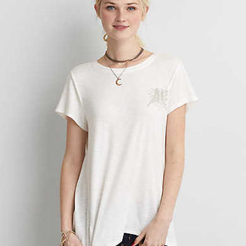 Soft & Sexy Slub Jegging T-Shirt, White