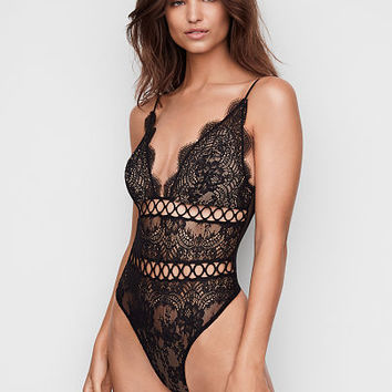 Floral Lace & Rings Teddy - Very Sexy - Victoria's Secret