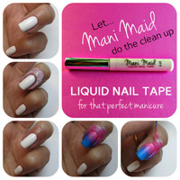 Liquid Nail Tape Latex Peel Off Mani Maid