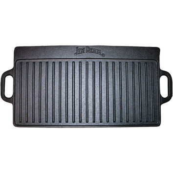 Jim Beam Double-sided Cast Iron Griddle