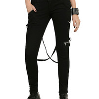Royal Bones By Tripp Black Strap Skinny Jeans