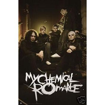 My Chemical Romance Poster Band Shot Sitting
