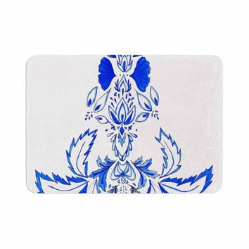 "Cecibd ""Azulejo"" Blue Nature Memory Foam Bath Mat"