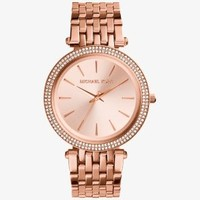 Darci Pavé Rose Gold-Tone Watch | Michael Kors