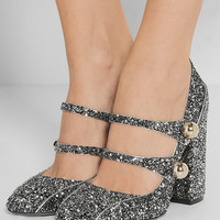 No. 21 - Glittered leather pumps