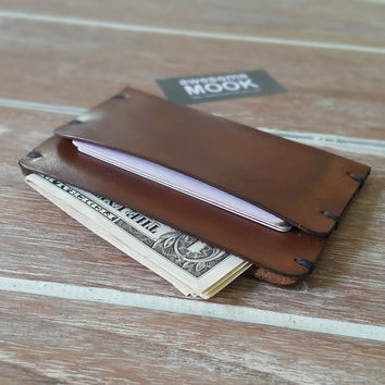 Groomsmen Gift, Wedding gift, Leather wallet, Mens wallet, Sleeve card wallet, Personalized Minimalist Wallets
