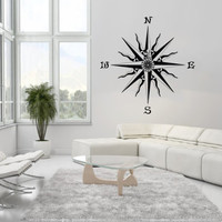 Nautical Compass Rose Housewares Wall Vinyl Decal Art Design Modern Interior Bathroom Decor Sticker Murals Removable Room Window SV3671