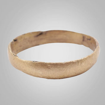 Authentic Ancient Viking Wedding Band Jewelry C.866-1067A.D. Size 9 1/4  (18.8mm)(BRR887)