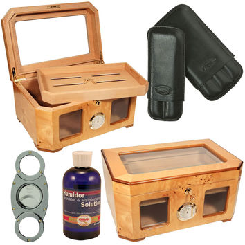Combo Palacio Cigar Humidor Deluxe and Accessories