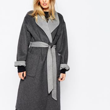 Whistles Split Seam Reversible Wrap Coat