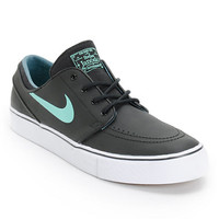 Nike SB Zoom Stefan Janoski Black, Crystal Mint, & Night Factor Leather Shoe