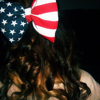 oversized flag bow by Elizabethaudreyy on Etsy